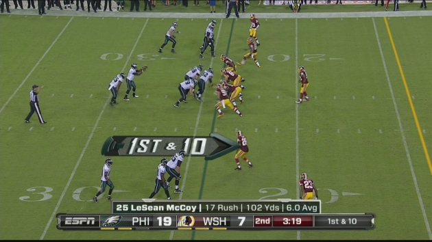 Eagles Crazy Formation Against Skins
